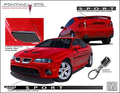 2006 pontiac gto custom decal kit sport 052005c. Black Bedroom Furniture Sets. Home Design Ideas